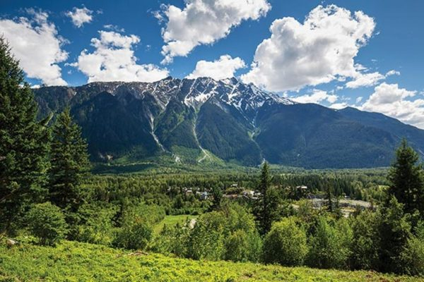 Looking at Mt. Currie Mountain with the Pemberton Valley Below