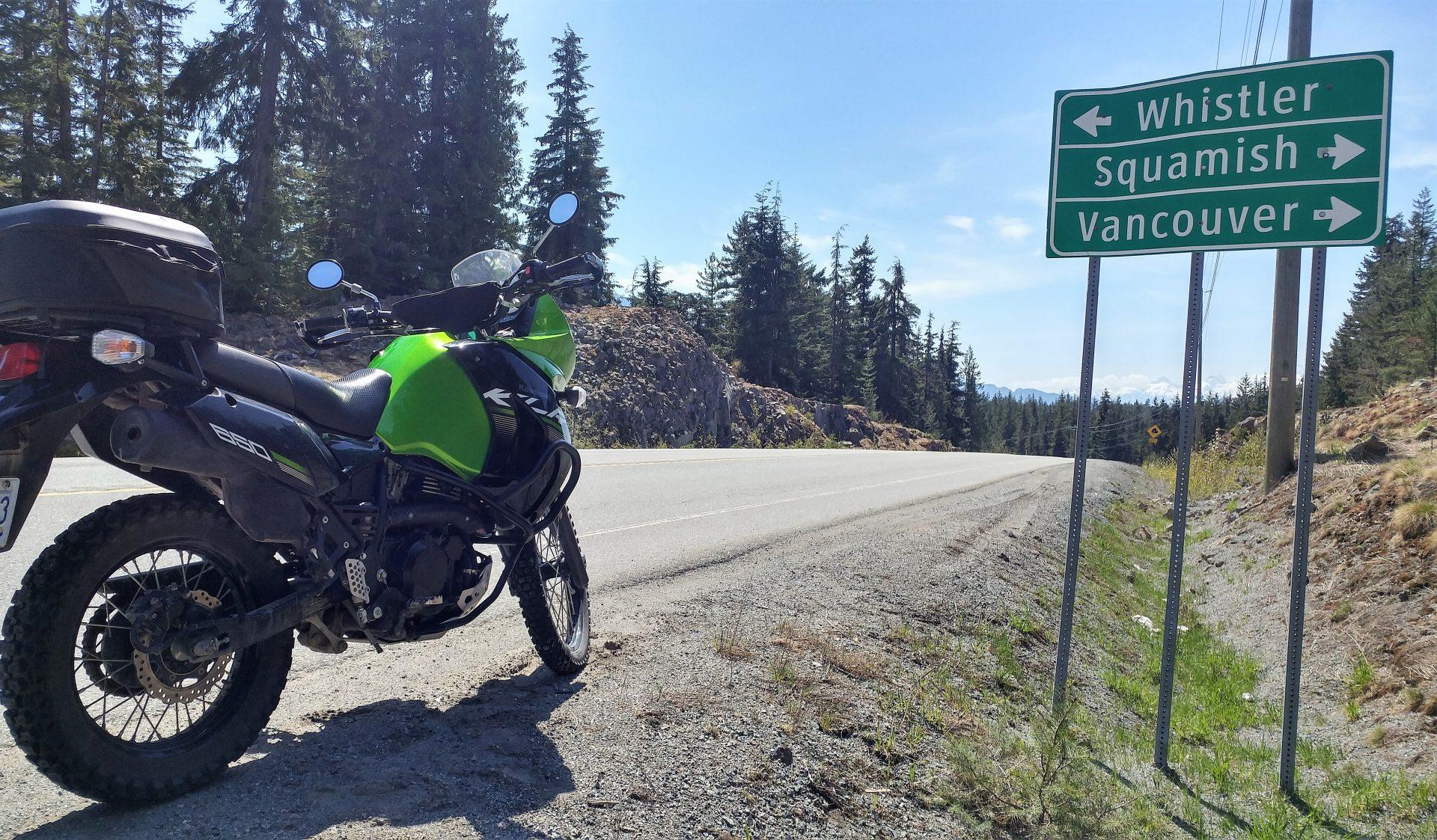Sea to Sky Motorcycle Tour whistler Callaghan Valley