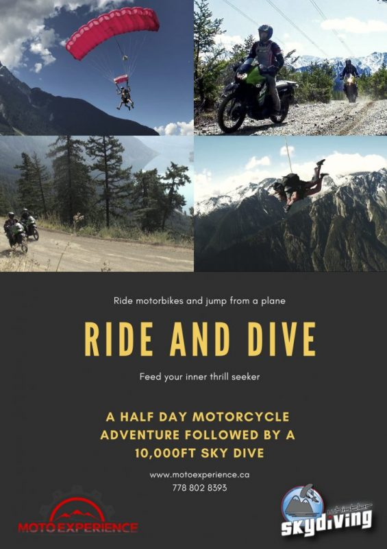 Whistler Skydive and Moto Experience Package