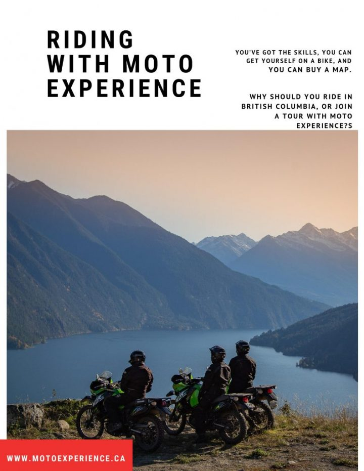 Page 1 of the riding with Moto Experience Blog