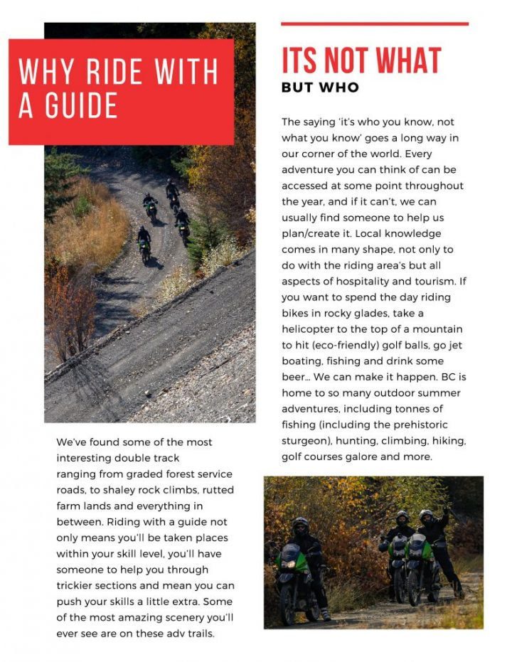 Why ride with a guide