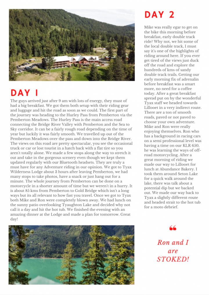 British Columbia motorcycle tours