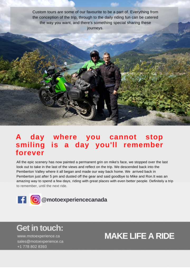 custom motorcycle vacations