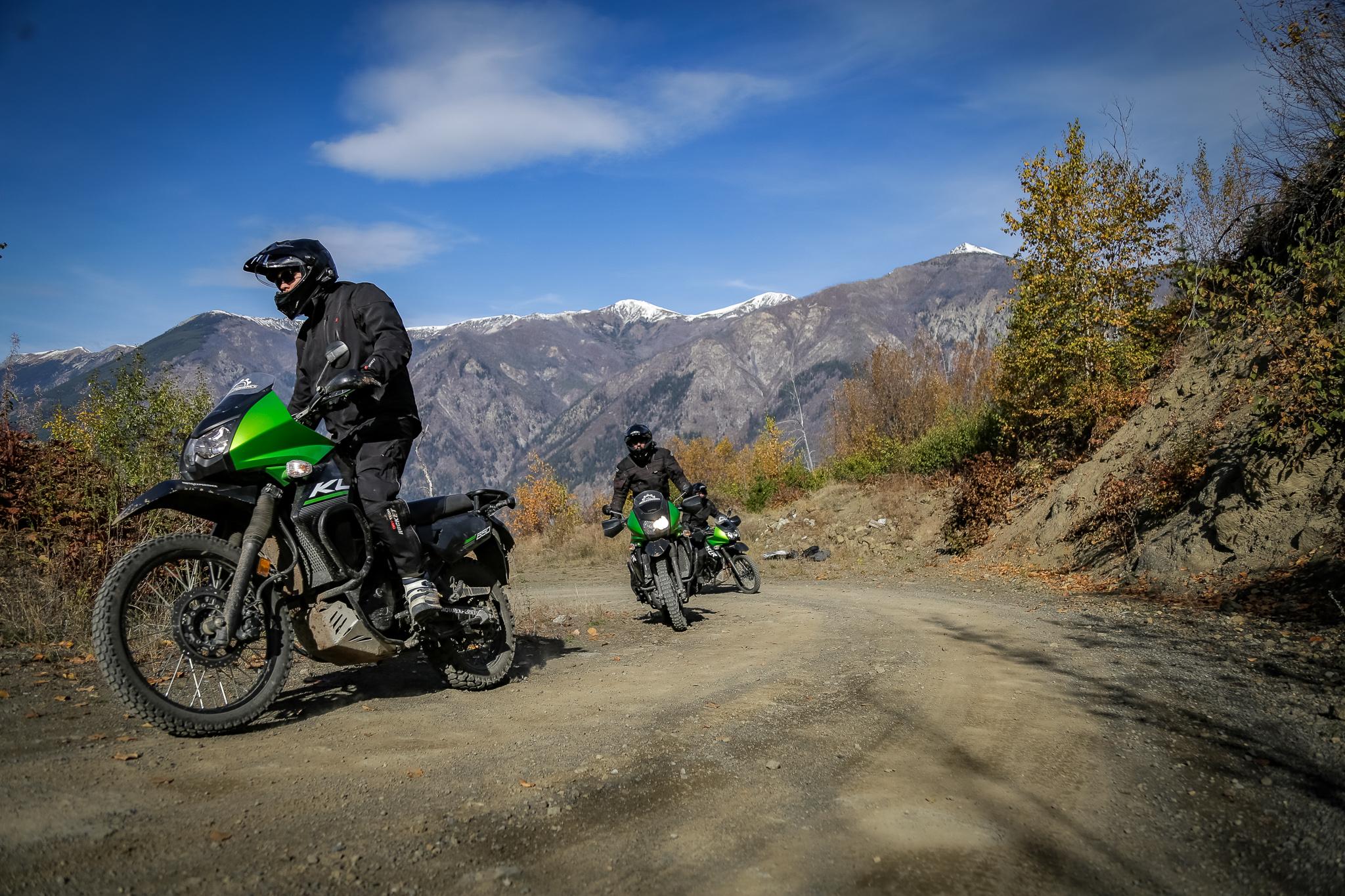 Riding motorbikes around Pemberton