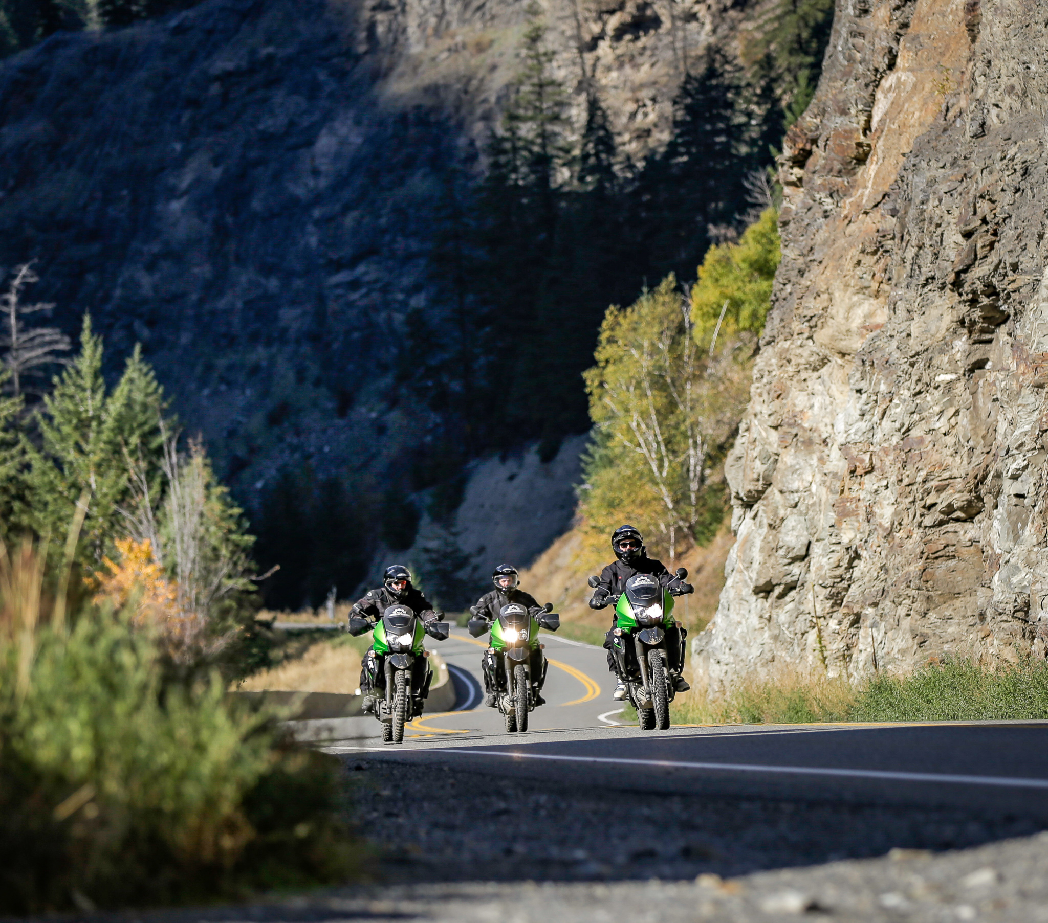 Riding the canyons on the Duffey Lake Road